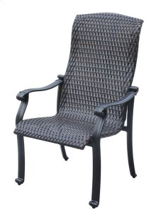Emerald Home Versailles Wicker Dining Chair Onyx Od1045-27