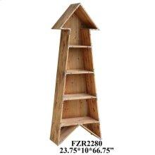 Chickasaw Rustic Wood Arrow Bookshelf