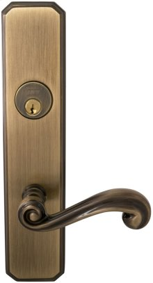 Exterior Traditional Mortise Entrance Lever Lockset with Plates in (SB Shaded Bronze, Lacquered)
