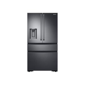 SAMSUNG23 cu. ft. Counter Depth 4-Door French Door Refrigerator with Polygon Handles in Black Stainless Steel