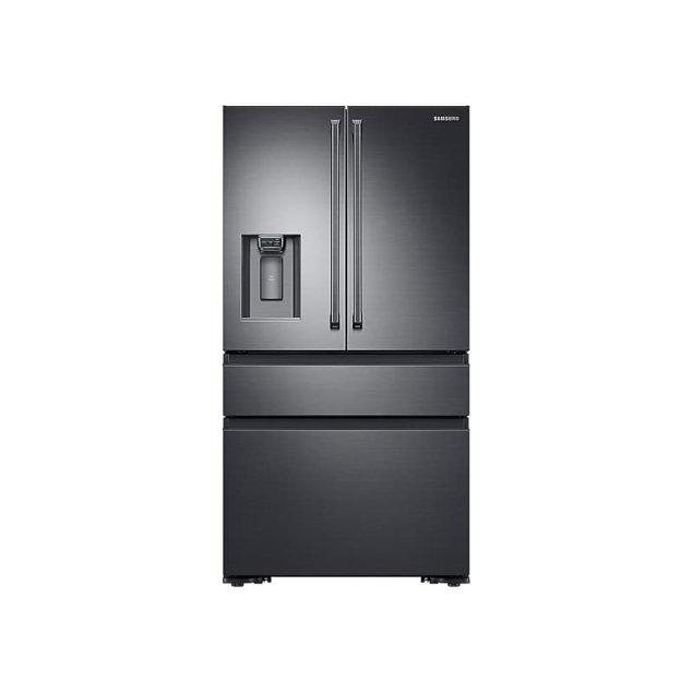 Rf23m8090sg Samsung Appliances 23 Cu Ft Counter Depth 4 Door French Door Refrigerator With Polygon Handles In Black Stainless Steel Standard Tv Appliance Standard Tv Appliance
