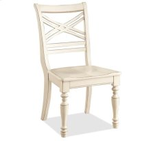 Placid Cove X-Back Side Chair Honeysuckle White finish
