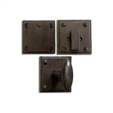 Hand Forged Iron East-West Knob Entry Set