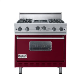 "Burgundy 36"" Open Burner Range - VGIC (36"" wide, four burners 12"" wide char-grill)"