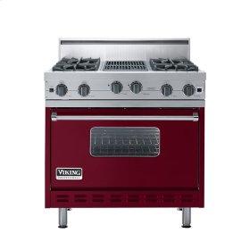 "Burgundy 36"" Open Burner Range - VGIC (36"" wide, four burners 12"" wide char-grill)"