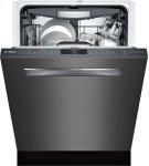 "800 Series 24"" Pocket Handle Dishwasher, SHPM78W54N, Black Stainless Steel Product Image"