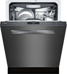 "24"" Pocket Handle Dishwasher, SHPM78W54N, Black Stainless Steel"