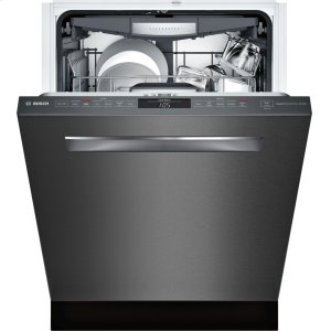 "Bosch800 Series 24"" Pocket Handle Dishwasher, SHPM78W54N, Black Stainless Steel"