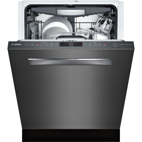 "800 Series 24"" Pocket Handle Dishwasher, SHPM78W54N, Black Stainless Steel"
