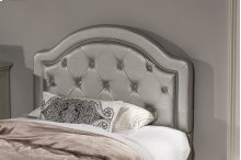 Karley Headboard - Full - Embossed Silver With Glass Button