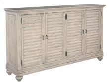 Homestead Louvered Door Entertainment Center