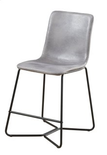 "Emerald Home Emmett 24"" Barstool-gray With Black Metal Legs-d248-24-03"