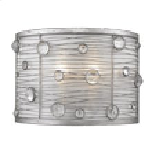 Joia 1 Light Wall Sconce in Peruvian Silver with Sterling Mist Shade