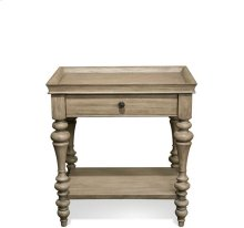 Corinne Wood Top Leg Nightstand Sun-drenched Acacia finish