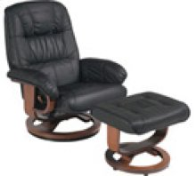 R-028 Mario Black Leather Recliner