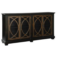 Four Door Circle Lattice Entertainment Center Product Image