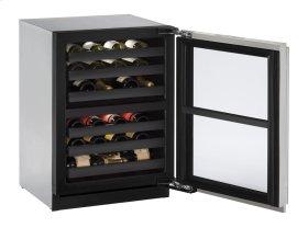 """24"""" Wine Captain ® Model Stainless Frame Left-Hand Hinge"""