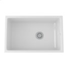 White Allia Fireclay Single Bowl Undermount Kitchen Sink Product Image