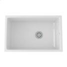 White Allia Fireclay Single Bowl Undermount Kitchen Sink Product Image