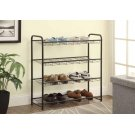 Transitional Black Shoe Rack Product Image