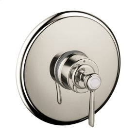 Polished Nickel Single lever shower mixer for concealed installation