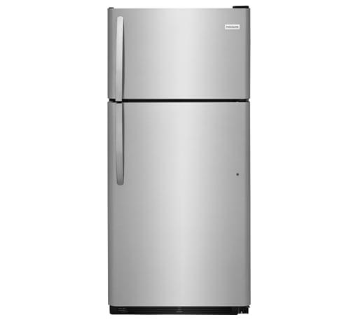 Frigidaire 18 Cu. Ft. Top Freezer Refrigerator  STAINLESS STEEL