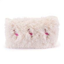 Dancing Flamingos Pillow Ivory & Pink