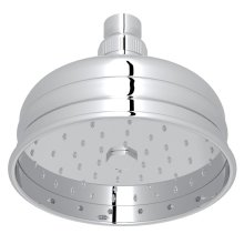 "Polished Chrome 5"" Bordano Rain Anti-Cal Showerhead"