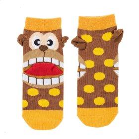 Monkey Heel Socks -Youth Shoe Size 8-13