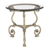 Solano Round Lamp Table Glass Top and Base Product Image