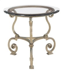 Solano Round Lamp Table Glass Top and Base