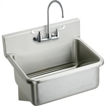 """Elkay Stainless Steel 31"""" x 19.5"""" x 10-1/2"""", Wall Hung Single Bowl Hand Wash Sink Kit"""