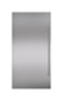 "Built-In 36"" Stainless Steel Dual Flush Inset Door Panel with Pro Handle"