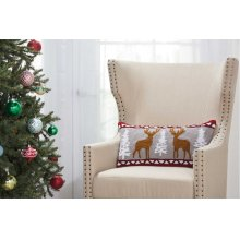 """Home for the Holiday Yx104 Multicolor 12"""" X 24"""" Throw Pillows"""