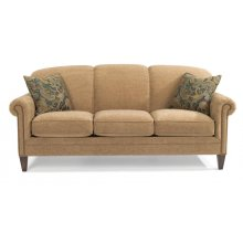 Amelia Fabric Sofa with Nailhead Trim