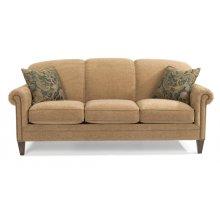 Amelia Fabric Sofa with Nailhead Trim