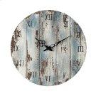 Wooden Roman Numeral Outdoor Wall Clock in Belos Dark Blue Product Image