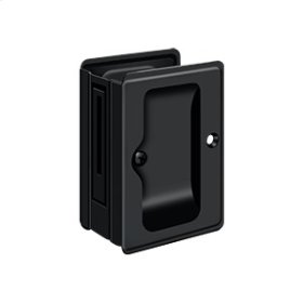 "HD Pocket Lock, Adjustable, 3 1/4""x 2 1/4"" Passage - Paint Black"