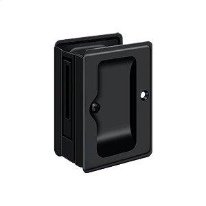 """HD Pocket Lock, Adjustable, 3 1/4""""x 2 1/4"""" Passage - Paint Black"""