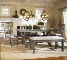 6-Pc. Turino Dining Set - 457-417 Table, 457-260 Bench & (4) 457-434 Side Chairs