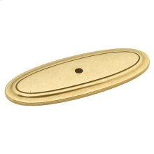 3 In. Manor House Lancaster Hand Polished Pull Backplate