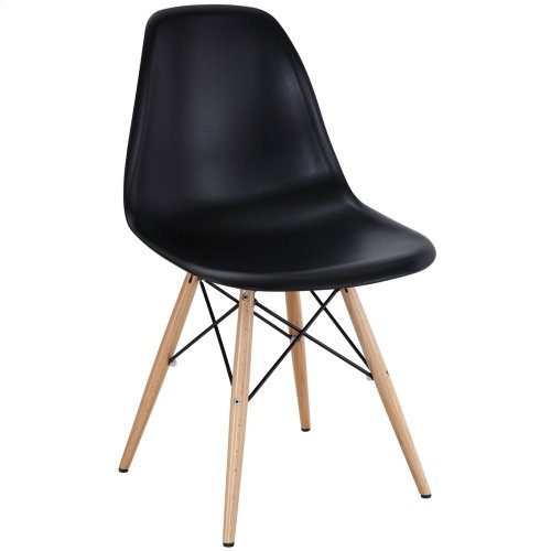 Pyramid Dining Side Chair in Black