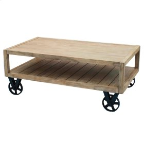 Cannes Coffee Table KD, Washed Brown