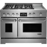 """JENN-AIRPro-Style(R) Gas Range with Griddle and MultiMode(R) Convection, 48"""""""