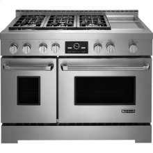 Pro-Style® Gas Range with Griddle and MultiMode® Convection, 48""