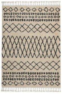 Moroccan Shag Mrs02 Cream Rectangle Rug 5'3'' X 7'11''