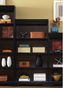 260-HO3060  Bookcase, 60 inch - Black/Cherry
