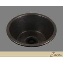 Zara - Large Round Prep/bar Sink - Textured Pattern - Pewter