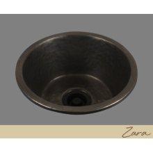 Zara - Large Round Prep/bar Sink - Textured Pattern - Pewter
