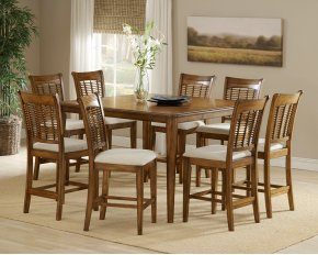 Bayberry 9pc Counter Height Set Oak